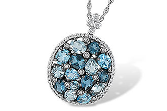 B223-94895: NECK 3.12 BLUE TOPAZ 3.41 TGW