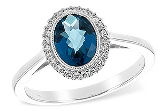 G225-73931: LDS RG 1.27 LONDON BLUE TOPAZ 1.42 TGW